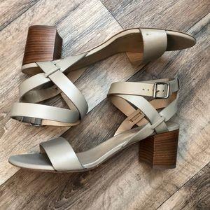 M. Gemi Leather Strap Sandals